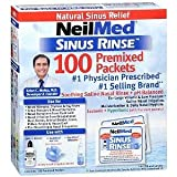 Sinus Rinse Regular Mixture Packets - Relieves Allergies & Sinus Symptoms, 100 Salt Premixed Packets,(neilmed)