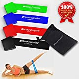 Best Durability 4 Exercise Bands/ Resistance Loop Bands / Fitness Bands /Leg Resistance Bands/ Stretch Bands ★100% Natural Eco-Friendly Elastic Latex Band ★ The Perfect Band for Yoga Pilates Physical Therapy Exercise ★100% Risk-Free Lifetime Money Back Guarantee