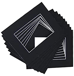 50 11x14 Black Mats Matting for 8.5x11