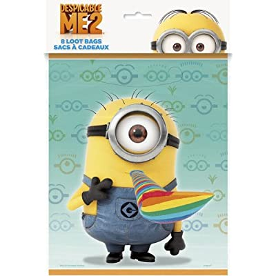 Throw the party of the year with these awesome party accessories! Stuff your Despicable Me Treat Bags with candy, stickers, tattoos, and of course, blowouts. Tie a Despicable Me Foil Balloon to the handles of your treat bags for a bright extra touch.