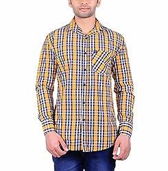 Cotblend Men's Casual Shirt (COTBLEBD16-L, Multi-Coloured, L)