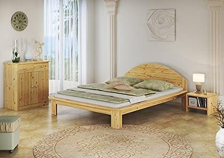 60, 61-14 Giardino letto in legno di pino massiccio con roll 140 x 200 cm ruggine