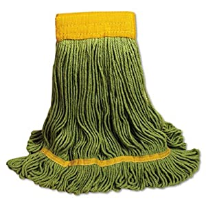 o UNISAN o - EcoMop Looped-End Mop Head, Recycled Fibers, Large Size, Green