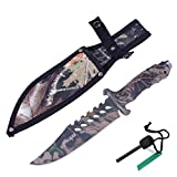 Yes4All H153B Hunting Survival Tactial Knife + Nylon Sheath and Fire Starter - ²H1MUZ