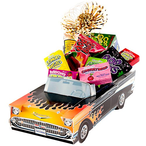 Great Gifts Baskets Hot Rod: Sweet Retro Candy,