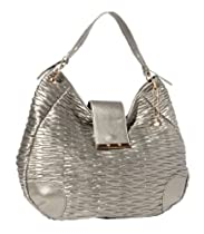 BIG BUDDHA Lilah Top Handle Bag,Gunmetal,One Size