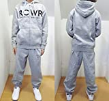 ROCA WEAR(ロカウェア) スウェットセットアップ【並行輸入品】 (L, グレー)