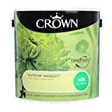 Crown Breatheasy Emulsion Paint - Silk - Summer Season - 2.5L