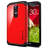 LG G2 Case, Spigen® LG G2 Case Slim [Slim Armor] [Crimson Red] Dual Layer Protective Case for AT&T, Sprint, T-Mobile, International ONLY - Crimson Red (SGP10537)