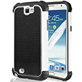 teKKno Protective Shock Proof Stylish Dual Case Cover And LCD Guard for Samsung Galaxy Note 2 (N7100) / White