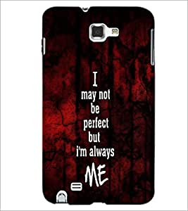 PrintDhaba Quote D-4764 Back Case Cover for SAMSUNG GALAXY NOTE 1 (Multi-Coloured)