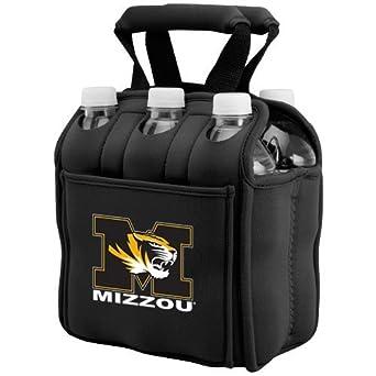 NCAA Missouri Tigers Black 6-Pack Neoprene Cooler