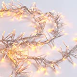 Garland Cluster String Lights 300 Count : Amazon.com: Vickerman 300 Lights Clear 9-Feet Garland End Connecting Set with White Wire: Home ...