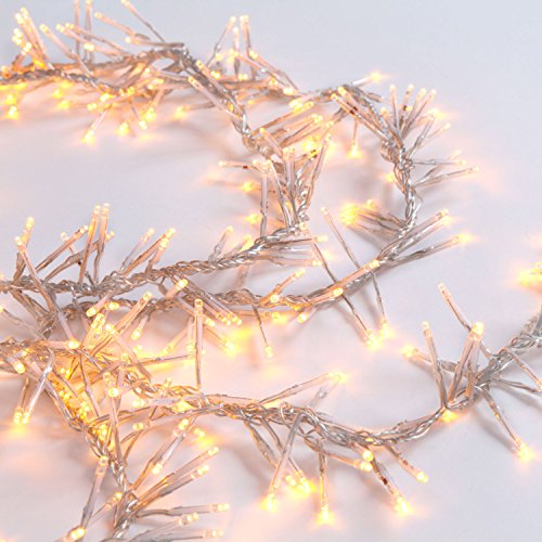 LED White Garland Cluster String Lights
