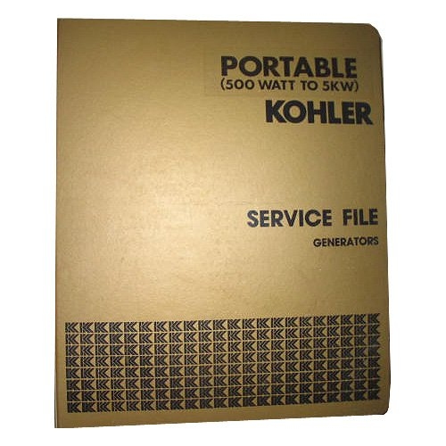 Kohler Master Service File Generators Portable 500 Watt To 5Kw Binder 1, Circa '70'S