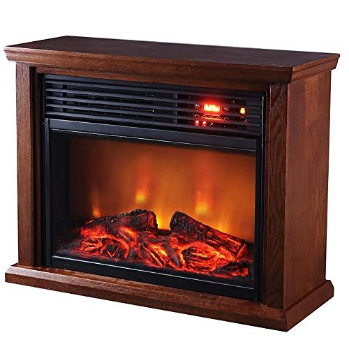 Thermal Wave by SUNHEAT TWFP1510 Dark Oak Infrared Fireplace, Dark Oak (Heat Wave Heater Infrared compare prices)