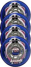 HYPE RInline Wheels OUTDOO RRECFITNESSHOCKEY 76mm 82A ASSAULT XT 4-PACK