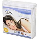 Luna Premium Hypoallergenic Zippered Bed Bug Proof Mattress Encasement 9 Height - Full Size - Made In The USA