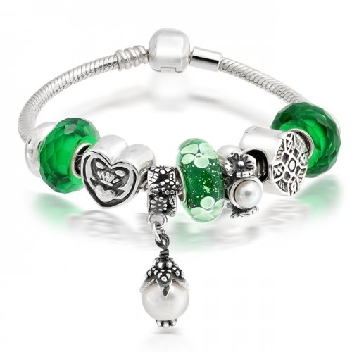Bling Jewelry Pandora Compatible Celtic Claddagh Friendship Silver Charm Bracelet