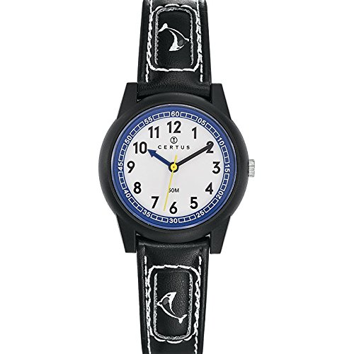 Certus - 647585 Synthetic Strap Unisex Watch - Analogue Quartz - White Dial - Black