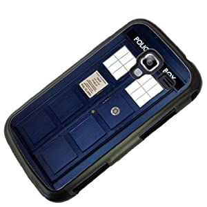 Black Frame Doctor Who Tardis Police Call Box Design SAMSUNG GALAXY ACE 2 I8160 Case/Back cover Metal and Hard case