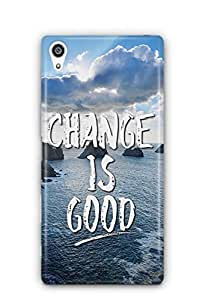 YuBingo Change is Good Designer Mobile Case Back Cover for Sony Xperia Z5 Plus