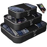Bingonia™ #1 BEST RATED Packing Cubes for Travel Organizer - 3 pc Value Set - Bonus Shoe Bag Included - Lifetime Guarantee