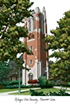 Michigan State University Beaumont Tower Lithograph 1421510