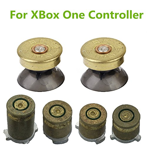 YTTL Thumbsticks Bullet Buttons and Bullet ABXY Buttons Set Mod Kits for Xbox one / Xbox ONE Elite Controller (Xbox One Bullet Buttons Gold compare prices)