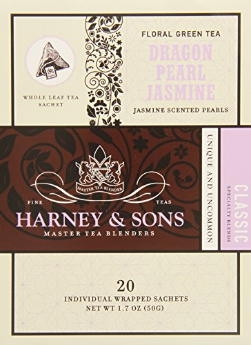 Harney And Sons Dragon Pearl Jasmine Tea, 20 Count