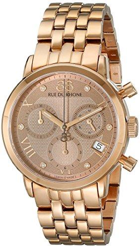 88 Rue du Rhone Women's 87WA130033 Analog Display Swiss Quartz Rose Gold Watch