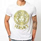 Versace Watch t-shirt for men (Medium, White)