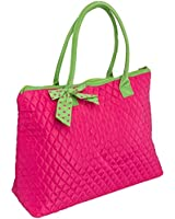 Belvah Extra Large Quilted Solid Pattern Tote Handbag - Choice of Colors