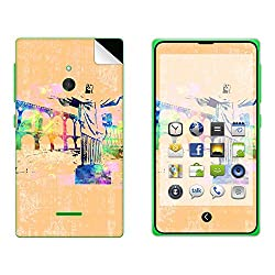 Skintice Designer Mobile Skin Sticker for Nokia XL, Design - Brazil