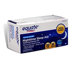Amazon.com: Equate - Nighttime Sleep Aid 50 mg, Maximum Strength, 32