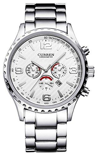 so-vedere-orologio-da-uomo-quadrante-bianco-lancette-argento-tono-acciaio-inossidabile-analogico-al-