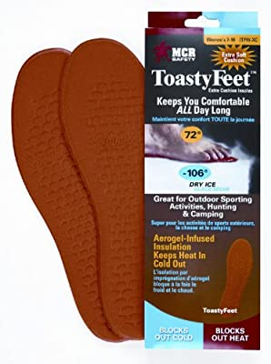 MCR Safety CTFW-XC Toasty Feet Woman's Shoe insoles Infused with Aerogel Extra Cushion for Sizes 7-10