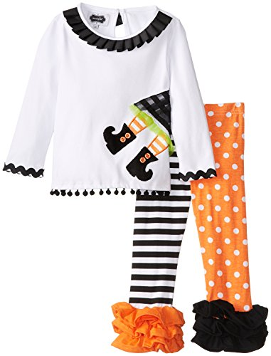 Mud Pie Little Girls' Witch Tunic and Legging Set