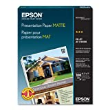 Epson Presentation Paper MATTE (8.5x11 Inches, 100 Sheets) (S041062)