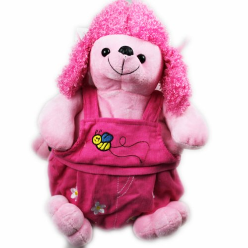 Cuffu Pink Poodle STUFFED ANIMAL Bag / Backpack for Children , Perfect for Gift Idea