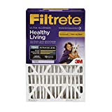 Filtrete Healthy Living Ultra Allergen Filter, MPR 1550, 16-Inch x 25-Inch x 4-Inch (4-3/8-Inch Depth), 4-Pack