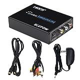 Blupow HDMI to Composite 3RCA AV(CVBS) S-Video R/Lオーディオコンバータ ビデオ変換器 1080P av hdmiコンバータアナログ変換器 HDMIビデオコンバータ HDMI to コンポジットコンバーター hdmi コンポジット変換 日本語取扱説明書PDF送付