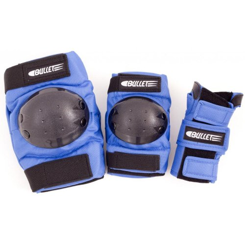 Bullet Standard Kit de protections junior Bleu