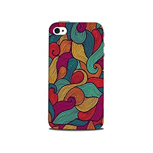 Mikzy Abstract Patten Printed Designer Back Cover Case for Iphone 4/4S (MultiColour)