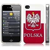IPHONE 4S / IPHONE 4 POLISH EMBLEM / FLAG TPU GEL SKIN / CASE / COVER PART OF THE QUBITS ACCESSORIES RANGE
