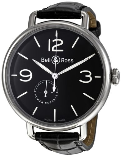 Bell & Ross Men's BRWW1-97POWRRSV Vintage Black Leather Strap Watch