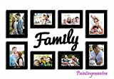 Special Moments - Set of 8 Individual wall Photo Frames with Family MDF Plague