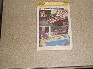 Simplicity 5662 vintage 1973 cushion covers for Chaise lounge cover pattern