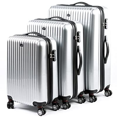 HERGÉ Trolley set of 3 lightweight hard-shell suitcases XB - three pcs luggage with 4 wheels - ABS & PC