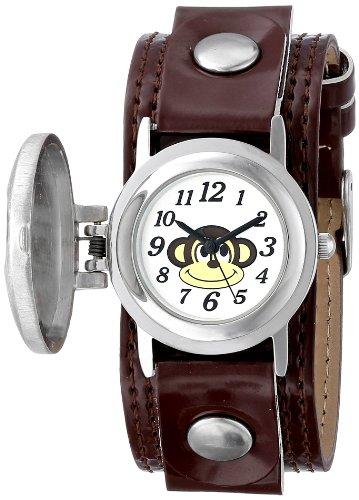 Frenzy Frenzy Kids' FR286 Monkey Analog Brown Strap Watch